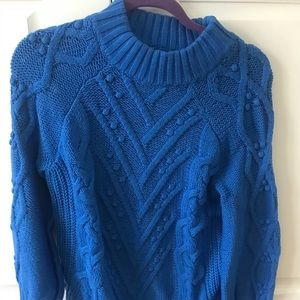 A royal blue cable knit sweater from Loft!